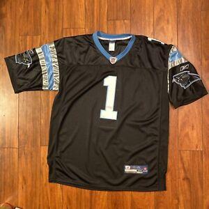 Cam Newton #1 NFL Carolina Panthers Reebok Sewn Jersey On-Field Mens Size 48 EUC