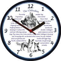 Chihuahua Large Wall Clock Dog Breed Origins Animal Facts