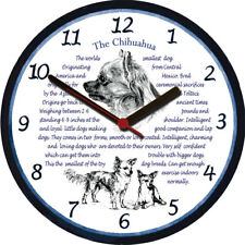 Chihuahua Large Wall Clock Dog Breed Origins Animal Facts