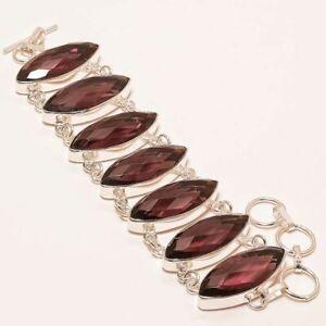 "Pink Amethyst Gemstone Handmade Ethnic Jewelry Bracelet 7-8"" B-134"
