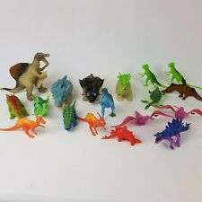 18 Dinosaur Plastic Rubber Figures Large Mixed Lot Toys Action Pretend Play