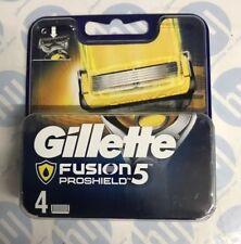 4 x Gillette Fusion ProShield Men's Replacement Razor Blades & Precision Trimmer