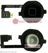 Replacement home menu button with flex cap for iphone 4 4th gen A1332 A1349 part