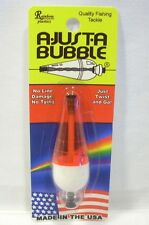 Rainbow Plastic 1/4oz A-Just-A Bubble Fluorescent Red/White Fishing Float Bobber
