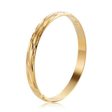 Womens Openable Bangle Yellow Gold Filled Cuff Bracelet Couple Jewelry Moon