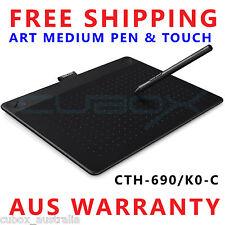 Wacom Intuos ART Pen & Touch Medium Tablet CTH-690/K0-C BLACK Software Bundled