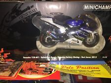 1:12 MINICHAMPS YAMAHA 2013 TEST JEREZ  V. ROSSI NEW SHIP. WORLDWIDE RARE