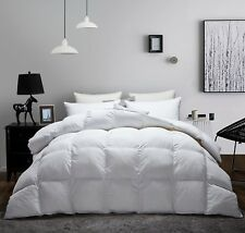 Luxurious Goose Down Comforter-All Season Duvet Insert,Soft 100%Egyptian Cottom