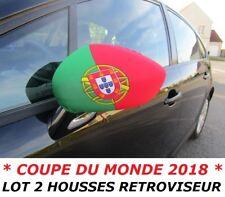 PACK 2 HOUSSES RETROVISEUR VOITURE DRAPEAU PORTUGAL PORTUGAIS No fanion maillot