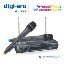 VHF 2 x Handheld Mic Wireless Microphone System Karaoke Singing Dual Channels