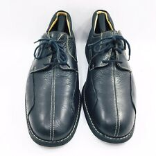 Johnston & Murphy Black Leather Bicycle Toe Oxfords Shoes Mens Size 11 Medium