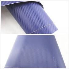 3D Car Interior Accessories Interior Panel blue Carbon Fiber Vinyl Wrap Sticker