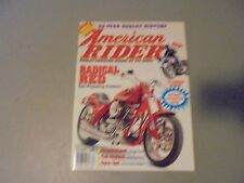 WINTER 1994 AMERICAN RIDER MAGAZINE,IST EVER ISSUE #1,POSTER,HARLEY DAVIDSON RID