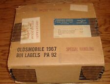 Original 1965 Oldsmobile Bin Labels w/Box 65