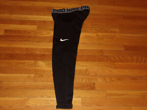 NIKE PRO DRI-FIT BLACK COMPRESSION TRAINING TIGHTS MENS LARGE EXCELLENT COND.