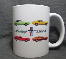 1973 Mustang Line Coffee Cup, Mug - New - Classic 1970's Ford - Sharp!