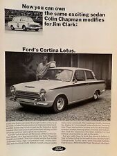 1965 LOTUS FORD CORTINA LOTUS AD/PICTURE/PRINT JIM CLARK COLIN CHAPMAN