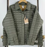 New THE NORTH FACE 2XL Womens OD Green Thermoball Snap Quilted Jacket Coat NWT
