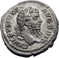 SEPTIMIUS SEVERUS 210AD Rome Authentic Ancient Silver Roman Coin SALUS i63916