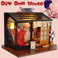 Doll House Japeness Wooden LED Light Miniature Furniture DIY Kit Box Gift Toy