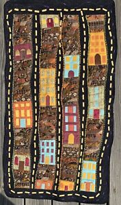 Row Houses Art Quilt Wall Hanging - sold by artist