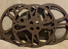"(3) Film Reels - Vintage -Goldberg Bros, Denver, Colo 13.75"" 16mm Art Deco Style"