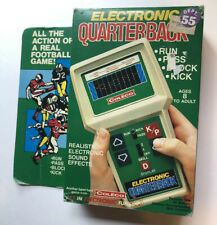 Vintage 1978 Coleco Handheld Electronic Quarterback Football Game with Box