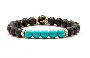 Throat Chakra Bracelet. Natural Healing Crystal Beads Jewellery Reiki. Yoga