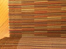 Upholstery Fabric Brown Purple Red Linear Pattern Commercial Grade
