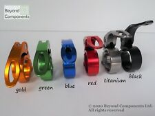 Anodized Bike Seat Clamp Bicycle MTB BMX Road Quick Release 28.6 31.8 34.9