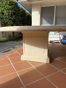 Used Stone Round Outdoor Table