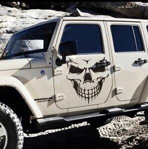 50x56CM Vnyl Skull Hood Decal Side Door Graphic Sticker Car Truck Accessories