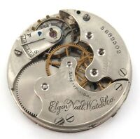 1895 ELGIN 6S 11J POCKET WATCH MOVEMENT & DIAL. ONLY 45,000 PRODUCED.