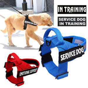 Service Training Dog Harness No Pull Reflective Pet Easy Control Handle Vest