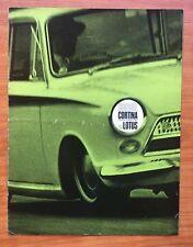 Ford Cortina Lotus Mk1 1963-64 UK Brochure Cosworth RS  Manual Handbook