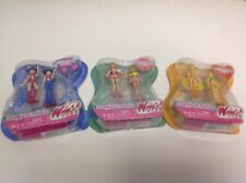 New Set Of 3 Winx Club Dolls Magical Minis Musa Flora And Stella By Mattel Read