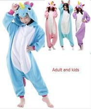 Adult Kids Unisex Animal  Cosplay Costume Unicorn Tenma Kigurumi Pajamas
