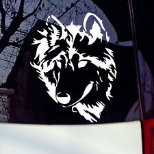 White Vinyl Decal Werewolf Wolf Head U Pick Color Laptop Sticker Car Window