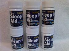 6 Bottles HEALTH A2Z SLEEP AID SLEEPING PILLS 180 TABLETS Diphenhydramine HCI