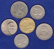 Poland, 6x Misc Commemorative Coins, 100, 20, 10 & 2 Zlotych (Ref. t1859)