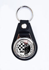 SKA FAUX LEATHER KEY RING/KEY FOB. SCOOTER KEYRING.