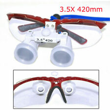 Dental Lab Medical Surgical Binocular Loupes 3.5X420mm Optical Glass Magnifier