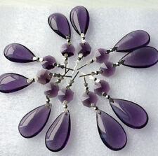10Pcs Purple Chandelier Crystal Lamp Parts Glass Prisms 38mm Pendant Drops