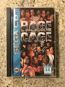 WWF RAGE IN THE CAGE SEGA CD WWE Wrestling Game Complete w/ Manual & Case RARE