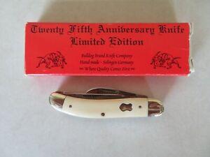"BULLDOG BRAND 25th Anniversary Knife Limited Edition 2004  ""White Bone""-New"