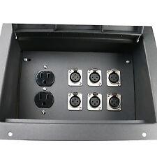 Elite Core Recessed Floor stage pocket box 6XLR jacks mic connectors AC outlets