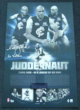 CHRIS JUDD CARLTON BLUES HAND SIGNED JUDDERNAUT 2010 BROWNLOW MEDAL AFL PRINT