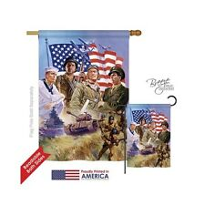 Breeze Decor Military The Armed Forces 2-Sided Vertical House Flag - 28x40 in.