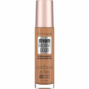 Maybelline Dream Radiant Liquid Foundation 1oz Hyaluronic Acid/Collagen Caramel