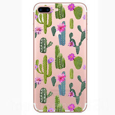 Various Plants Cactus Clear Soft Silicone Phone Case For iPhone 8 7 6 6S Plus 5